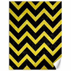 Chevron9 Black Marble & Gold Glittere & Gold Glitter Canvas 18  X 24