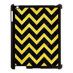 Chevron9 Black Marble & Gold Glittere & Gold Glitter Apple Ipad 3/4 Case (black)