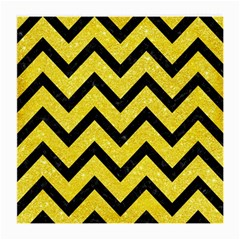 Chevron9 Black Marble & Gold Glitter (r) Medium Glasses Cloth