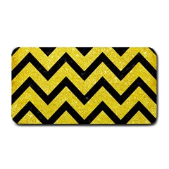 Chevron9 Black Marble & Gold Glitter (r) Medium Bar Mats