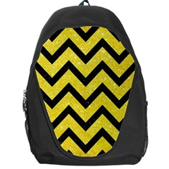 Chevron9 Black Marble & Gold Glitter (r) Backpack Bag