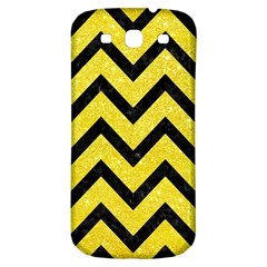 Chevron9 Black Marble & Gold Glitter (r) Samsung Galaxy S3 S Iii Classic Hardshell Back Case