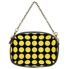 Circles1 Black Marble & Gold Glitter Chain Purses (one Side)