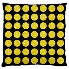 Circles1 Black Marble & Gold Glitter Large Cushion Case (one Side)