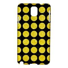 Circles1 Black Marble & Gold Glitter Samsung Galaxy Note 3 N9005 Hardshell Case