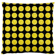 Circles1 Black Marble & Gold Glitter Standard Flano Cushion Case (one Side)