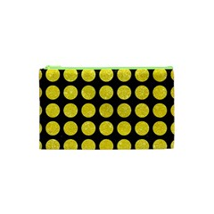 Circles1 Black Marble & Gold Glitter Cosmetic Bag (xs)
