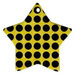 Circles1 Black Marble & Gold Glitter (r) Star Ornament (two Sides)