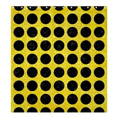 Circles1 Black Marble & Gold Glitter (r) Shower Curtain 66  X 72  (large)