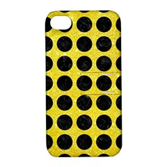 Circles1 Black Marble & Gold Glitter (r) Apple Iphone 4/4s Hardshell Case With Stand