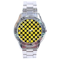Circles2 Black Marble & Gold Glitter Stainless Steel Analogue Watch