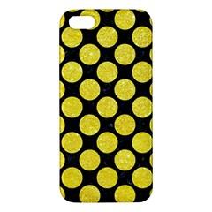 Circles2 Black Marble & Gold Glitter Iphone 5s/ Se Premium Hardshell Case