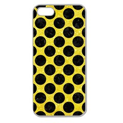 Circles2 Black Marble & Gold Glitter (r) Apple Seamless Iphone 5 Case (clear)