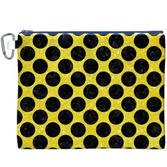 Circles2 Black Marble & Gold Glitter (r) Canvas Cosmetic Bag (xxxl)