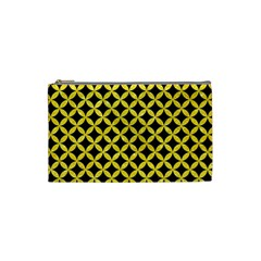 Circles3 Black Marble & Gold Glitter Cosmetic Bag (small)