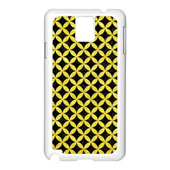 Circles3 Black Marble & Gold Glitter Samsung Galaxy Note 3 N9005 Case (white)