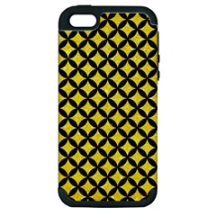 Circles3 Black Marble & Gold Glitter (r) Apple Iphone 5 Hardshell Case (pc+silicone)