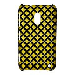 Circles3 Black Marble & Gold Glitter (r) Nokia Lumia 620