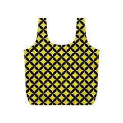 Circles3 Black Marble & Gold Glitter (r) Full Print Recycle Bags (s)