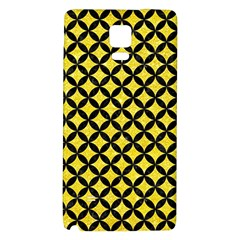 Circles3 Black Marble & Gold Glitter (r) Galaxy Note 4 Back Case