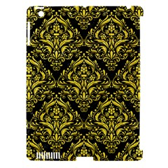 Damask1 Black Marble & Gold Glitter Apple Ipad 3/4 Hardshell Case (compatible With Smart Cover)