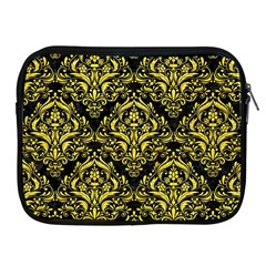Damask1 Black Marble & Gold Glitter Apple Ipad 2/3/4 Zipper Cases