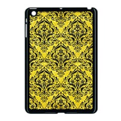 Damask1 Black Marble & Gold Glitter (r) Apple Ipad Mini Case (black)