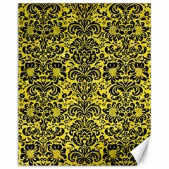 Damask2 Black Marble & Gold Glitter (r) Canvas 11  X 14