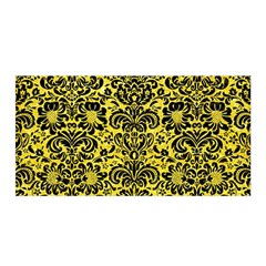 Damask2 Black Marble & Gold Glitter (r) Satin Wrap