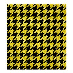 Houndstooth1 Black Marble & Gold Glitter Shower Curtain 66  X 72  (large)