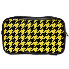 Houndstooth1 Black Marble & Gold Glitter Toiletries Bags