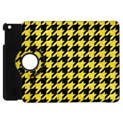 Houndstooth1 Black Marble & Gold Glitter Apple Ipad Mini Flip 360 Case