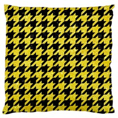 Houndstooth1 Black Marble & Gold Glitter Standard Flano Cushion Case (two Sides)
