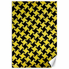 Houndstooth2 Black Marble & Gold Glitter Canvas 20  X 30