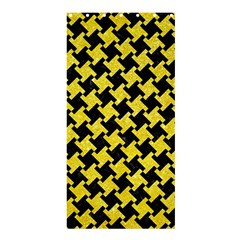 Houndstooth2 Black Marble & Gold Glitter Shower Curtain 36  X 72  (stall)