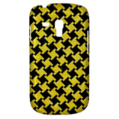 Houndstooth2 Black Marble & Gold Glitter Galaxy S3 Mini