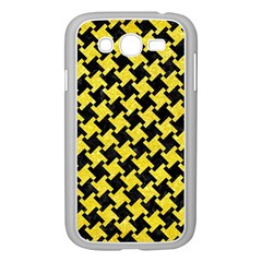 Houndstooth2 Black Marble & Gold Glitter Samsung Galaxy Grand Duos I9082 Case (white)