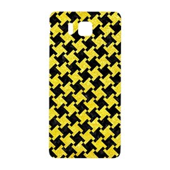 Houndstooth2 Black Marble & Gold Glitter Samsung Galaxy Alpha Hardshell Back Case