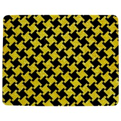 Houndstooth2 Black Marble & Gold Glitter Jigsaw Puzzle Photo Stand (rectangular)