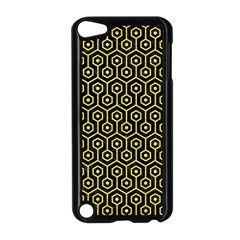 Hexagon1 Black Marble & Gold Glitter Apple Ipod Touch 5 Case (black)