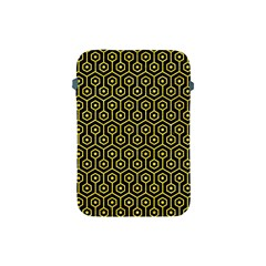 Hexagon1 Black Marble & Gold Glitter Apple Ipad Mini Protective Soft Cases