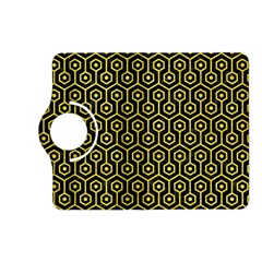 Hexagon1 Black Marble & Gold Glitter Kindle Fire Hd (2013) Flip 360 Case