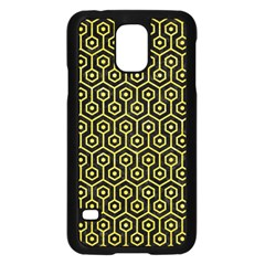 Hexagon1 Black Marble & Gold Glitter Samsung Galaxy S5 Case (black)