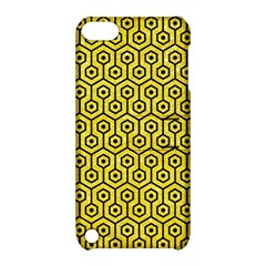 Hexagon1 Black Marble & Gold Glitter (r) Apple Ipod Touch 5 Hardshell Case With Stand
