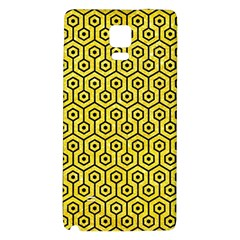 Hexagon1 Black Marble & Gold Glitter (r) Galaxy Note 4 Back Case