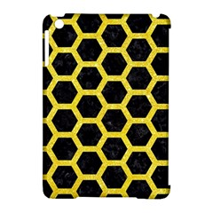 Hexagon2 Black Marble & Gold Glitter Apple Ipad Mini Hardshell Case (compatible With Smart Cover)