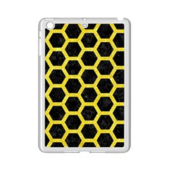 Hexagon2 Black Marble & Gold Glitter Ipad Mini 2 Enamel Coated Cases