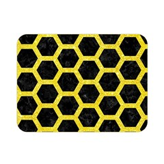 Hexagon2 Black Marble & Gold Glitter Double Sided Flano Blanket (mini)