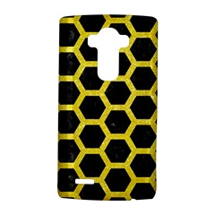 Hexagon2 Black Marble & Gold Glitter Lg G4 Hardshell Case