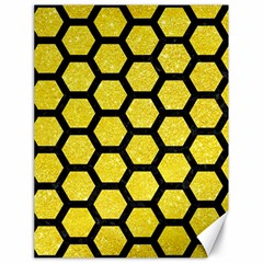 Hexagon2 Black Marble & Gold Glitter (r) Canvas 18  X 24
